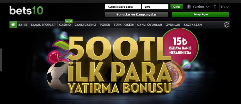 Bets10 15 Tl Bedava Bahis Bonusu