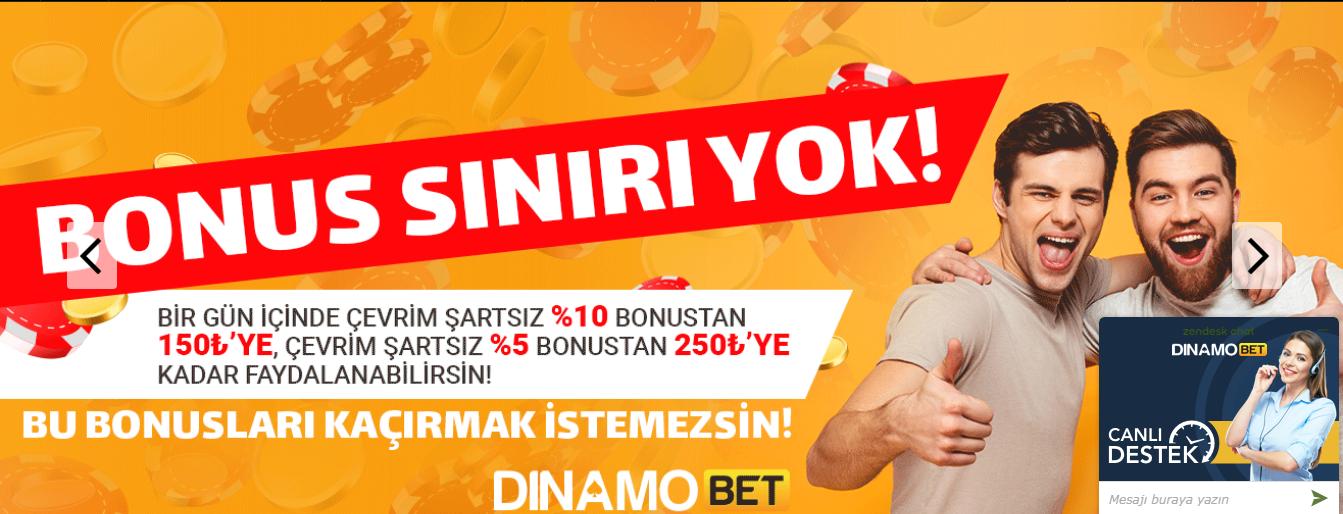 Dinamobet 5 Tl Bedava Bahis Bonusu